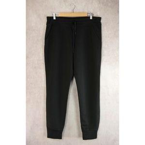 32 Degrees Black Fleece Tech Jogger Pants M